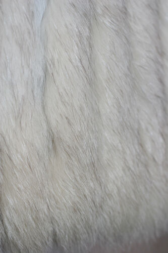 100 mozzafiato in pelliccia cappotto pelle morbido Splendidamente 10 di vera argentata S inserto volpe rCnqrwvO