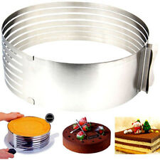 Adjustable Circle Round Mousse Cake Ring Cutter Mold Stainless Baking Tool