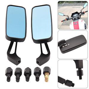 8mm-10mm-Black-Motorcycle-Wing-Side-Mirrors-Anti-Glare-Motorbike-Rearview-Pair