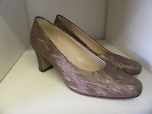 HOGL-BRONZE-TEXTURED-LEATHER-COURT-SHOES-SIZE-4