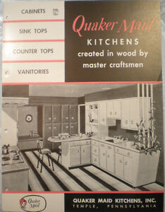 Image Is Loading Vtg Quaker Maid Kitchen Cabinet Guide Catalog Retro