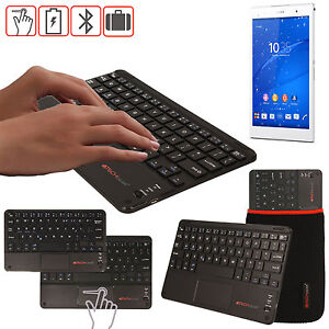 Slim-Wireless-Bluetooth-UK-Keyboard-amp-Touchpad-for-Sony-Xperia-Z3-Tablet-Compact