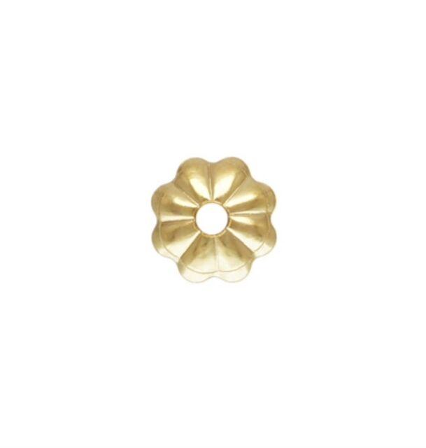 14k Gold Filled 4mm Flower Bead Caps 100pcs #6405-2