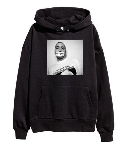 Eminem The Pope Smokes Dope Hoodie Hip Hop Sweatshirt Kamikaze merch Stan Black