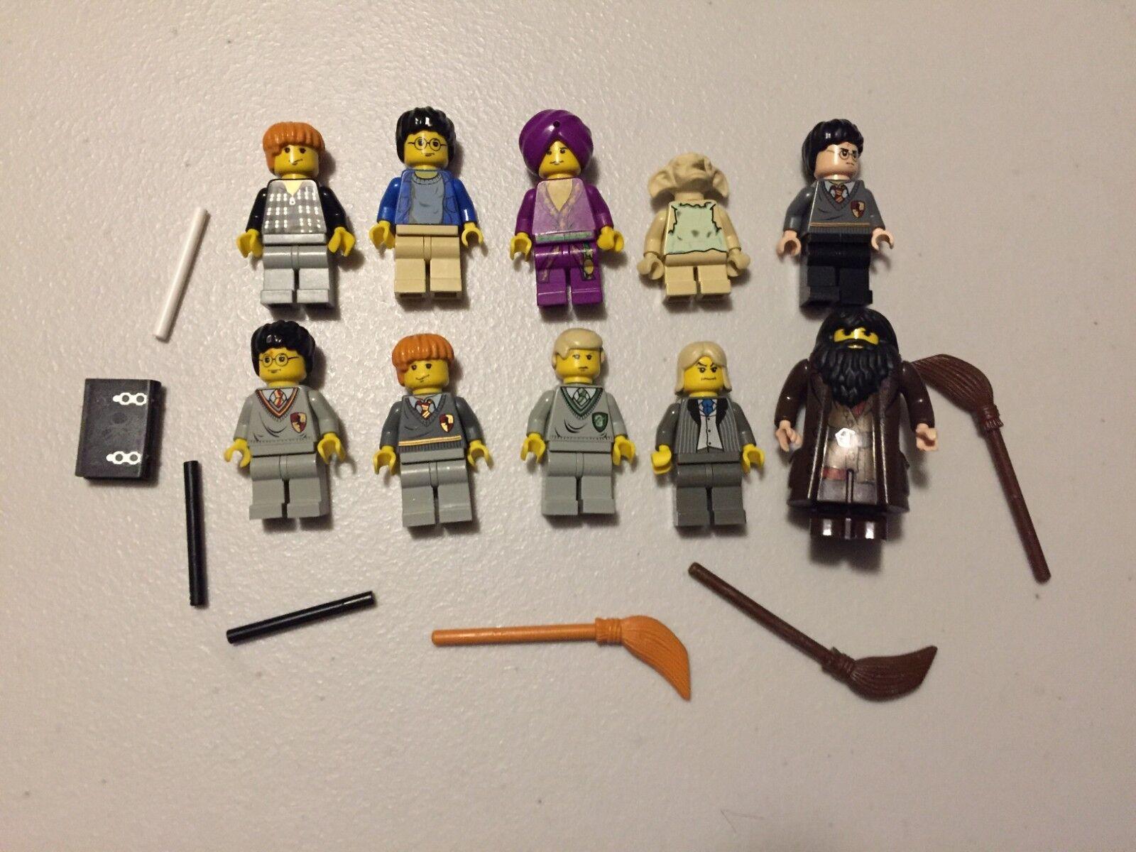 LEGO Harry Potter MINIFIG LOT of 10 MINIFIGS Dobby Hagrid Lot x496b