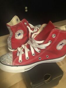 0865280c39d49 Details about Converse All Star Rhinestone Bling Chuck Taylor Size 6 Red