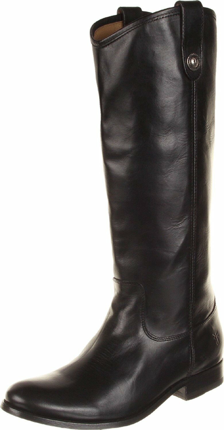 FRYE Womens Melissa Button Leather Boot, Boot, Boot, Black Wide Calf Smooth Vintage, US 5.5 2e57f8