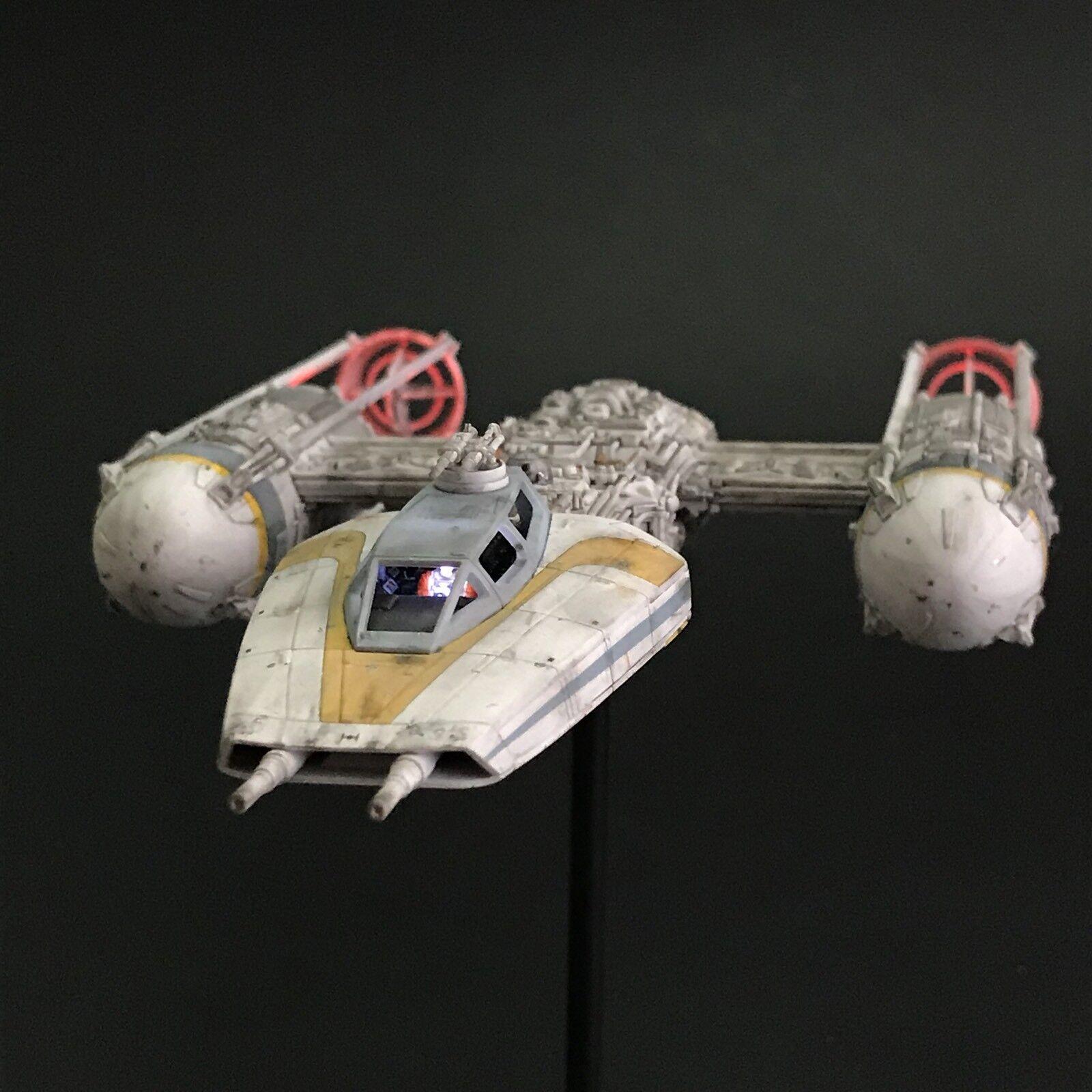 PRO BUILT Rebel Y-Wing Starfighter with FULL LIGHTING Prop Replica Star Wars