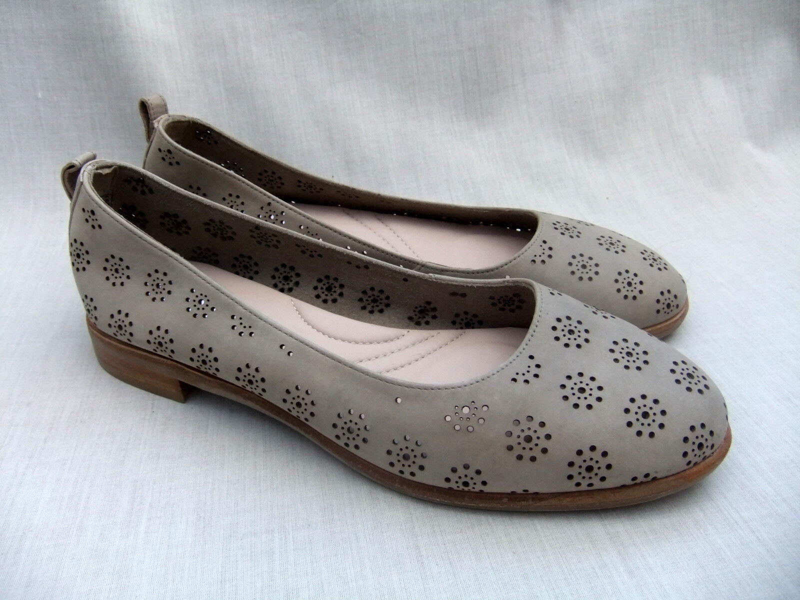 NEW CLARKS ALANIA rose femmes SAND NUBUCK LEATHER chaussures