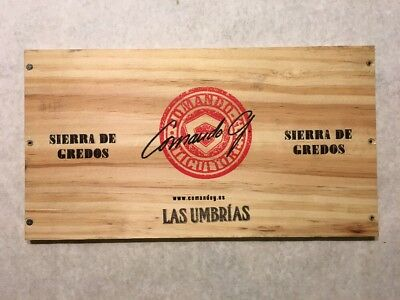 Symbol Of The Brand 1 Rare Wine Wood Panel Sierra Gredos Las Umbrias Vintage Crate Box Side 7/18 924 Kitchen, Dining & Bar