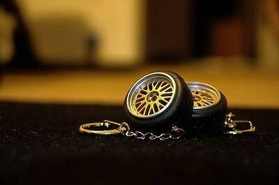 Fits BBS LM Style Wheel Rim w/ A050 Racing Tire Keychain JDM