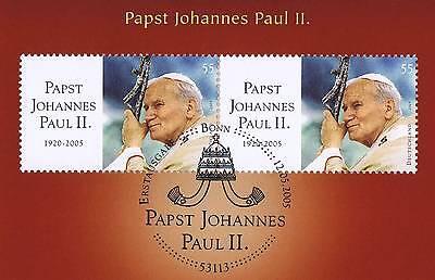 2019 Neuer Stil Brd 2005: Papst Verstarb! Paar Der Nr. 2460! Bonner Ersttags-sonderstempel! 1a!