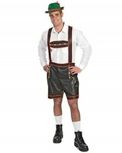 704dc11693e Details about German Lederhosen Costume Men's Blk