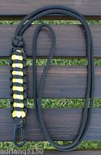 """Paracord """"Bunker / Turnout Gear"""" Adjustable Neck Lanyard with Clip (Black)"""