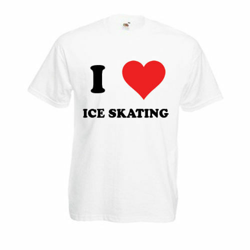 Personalised I Love Ice Skating T-Shirt Mens Ladies Womens Funny Novelty Gift To