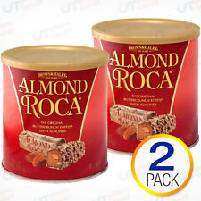 2 X Almond Roca Buttercrunch Toffee Chocolate Candy Brown and Haley Total 20 oz