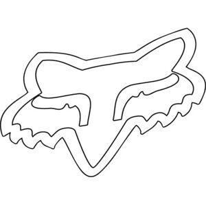 Aufkleber Fox Head Aufkleber 5,5 X 8 Cm Weiß SchnäPpchenverkauf Zum Jahresende Auto & Motorrad: Teile