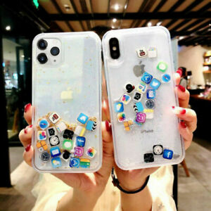 App Icon Dynamic Glitter Quicksand Case Cover For Iphone 11 Pro Max Xr 7 8 Plus Ebay