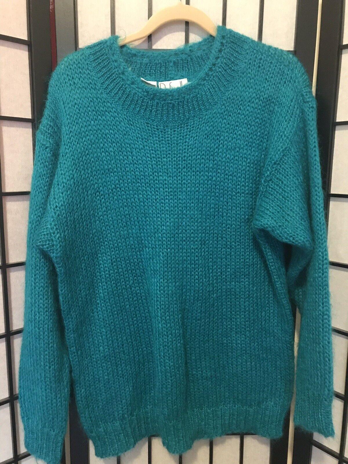 Vintage Rafaella Women's Beautiful bluee Sweater Mohair & Wool Size Med Dress