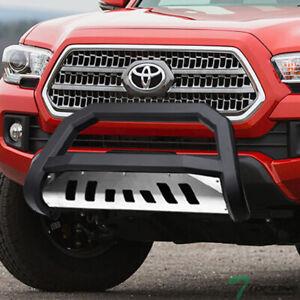 Ai CAR FUN for Toyota Tacoma 2016-2020 3 Bull Bar Grille Guard Front Bumper Texture Black
