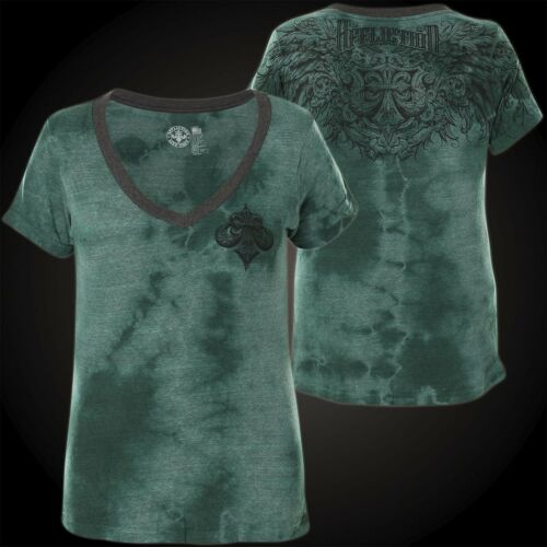 AFFLICTION Damen T-Shirt Grace Petrol