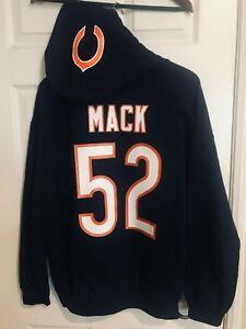 quality design 90837 2559d Details about Chicago Bears Khalil Mack Navy Jersey Style Hoodie Hoody  Hooded Sweatshirt