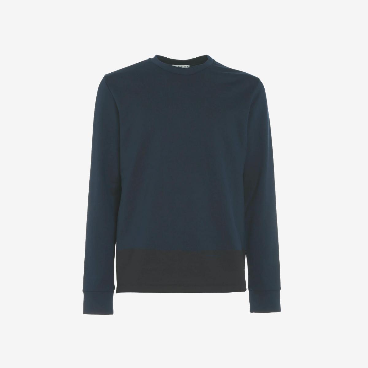 Balenciaga Printed Sweatshirt - Dark Blau - rotUCED WAS  NOW