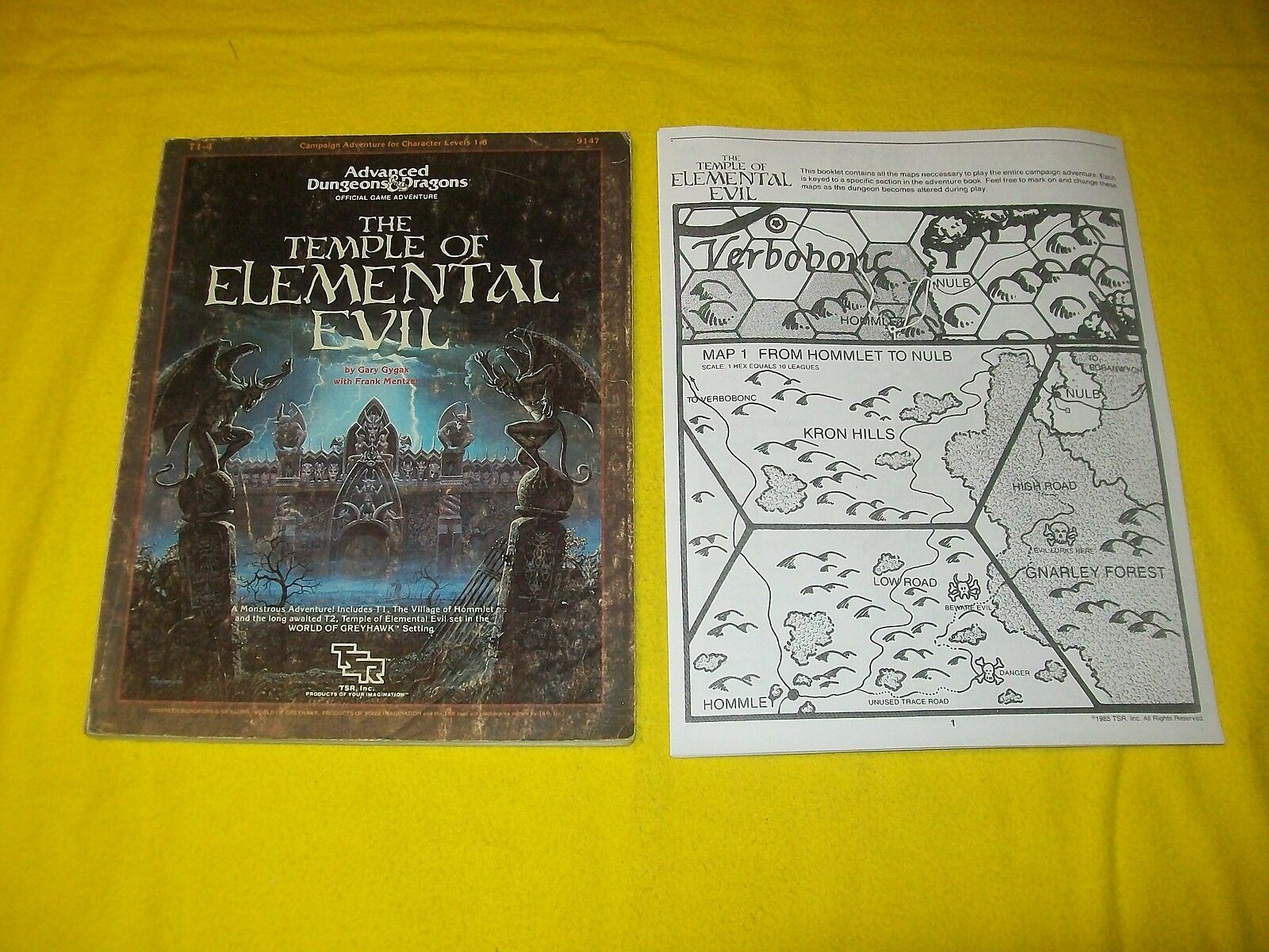 T1-4 THE TEMPLE OF ELEMENTAL EVIL DUNGEONS & DRAGONS AD&D TSR 9147 6 SUPERMODULE