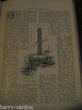 Shot Tower London Lead Ammunition Antimony Mine Cornwall Antique 1891 Article