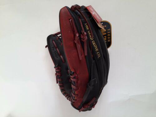 "Rawlings Gamer Baseball Glove TRAP-EZE GR5G8 12.5/"" Black Brown RHT Outfielders"