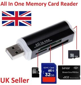 All in One all in 1 USB Memory Card Reader Adapter for Micro SD MMC SDHC TF M2 701160653920