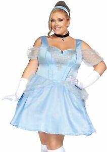 Details about NEW Plus Size Cinderella Disney Princess Halloween Costume  Cold Shoulder Dress