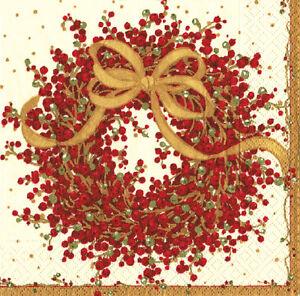 Pepperberry-Wreath-Red-Caspari-paper-Napkins-Dinner-size-40-cm-sq-3-ply-20-pack