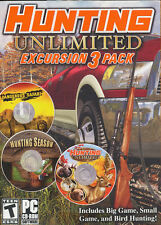HUNTING UNLIMITED EXCURSION 3 PACK - 3x Big Game & Bird Hunter PC Games - NEW!