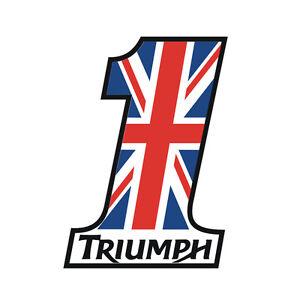 Sticker-plastifie-NUMBER-ONE-UNION-JACK-Triumph-Street-Speed-9cm-x-6-5cm