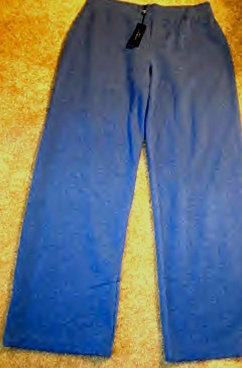Talbots XL TALL XLT   Sweat Pants bluee Cotton Relaxed Leg Ankle  16T 18 TNWT
