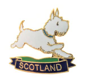 Westie West Highland Terrier Schottland Flagge Anstecker