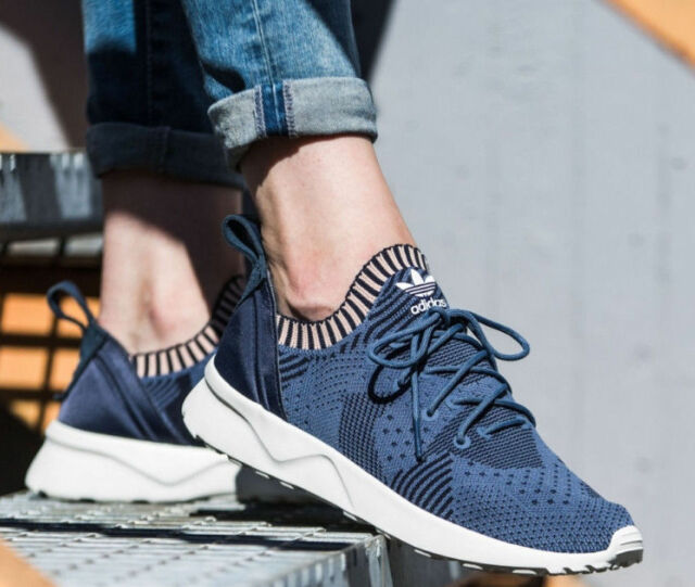 ADIDAS ZX FLUX ADV VIRTUE PK W PRIMEKNIT BLUE BB4265 WOMENS SIZE 7.5
