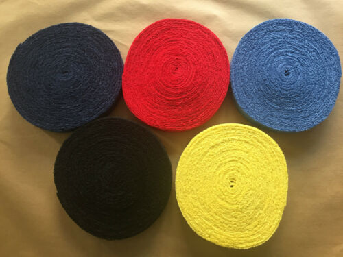 1 x ASHAWAY TOWEL GRIP ROLL FOR BADMINTON SQUASH TENNIS MADE IN TAIWAN