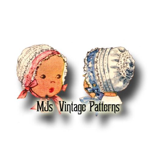 Vintage 1942 Fancy Baby Bonnet Pattern