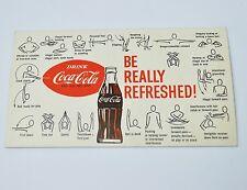 Drink Coca Cola Coke USA American Football Regel Karte 1960er