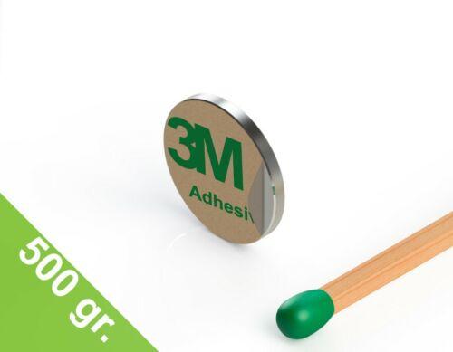 Grade N35 selbstklebend 10 x Neodym Scheibenmagnet vernickelt 10x1mm