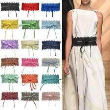 Women black flower elastic corset stretch fashion waist belt #070