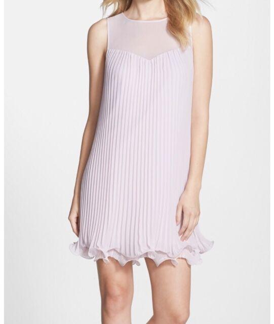 6a018289f80 Erin Fetherston  Sunburst  Pleated Chiffon Shift Dress Size 10 MSRP  295