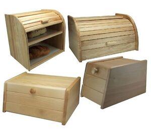 Details About Wooden Bread Bin Kitchen Food Bread Storage Pita Box Bins Holder Rack