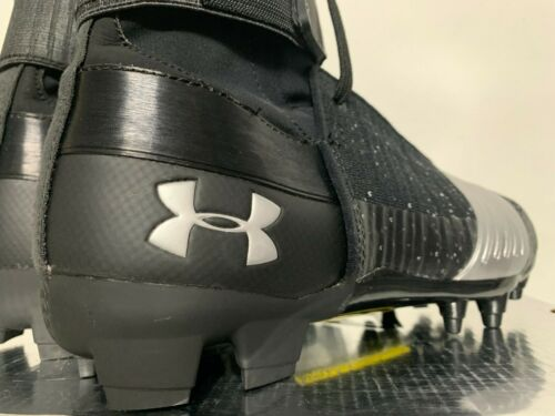 Details about  /Under Armour UA C1N MC Cam Newton Football Cleats Black Silver 3000175-001