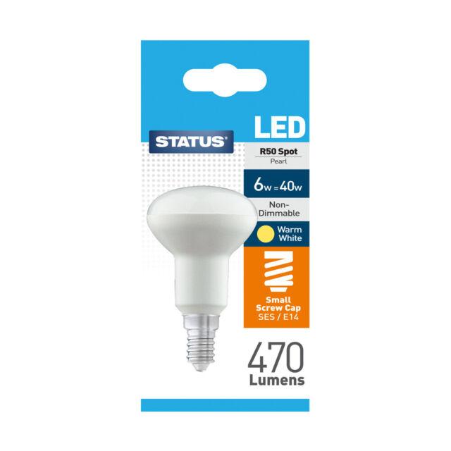 Warm White Reflector Spotlight R50 Led Ses Status Pearl 6w Bulbs 29HWYIED
