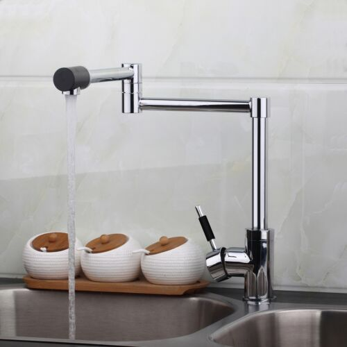 Bathroom//Kitchen Sink Basin Deck Mount Fold Swivel Arm Only Cold Faucet Tap