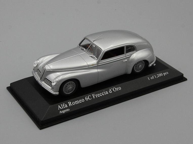 Minichamps 1 43 Alfa Romeo Romeo Romeo 6C 2500 'Freccia D' oro 1947 Plata L.E. 1200 PCS. 5f4c63