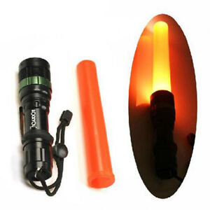 LED-Flashlight-CREE-Q5-Zoomable-Torch-300-Lumens-Light-3-Modes-with-Traffic-Wand